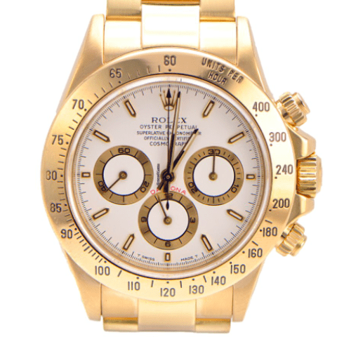 Rolex Daytona Yellow Gold Zenith Movement T Series - SEA Wave Diamonds