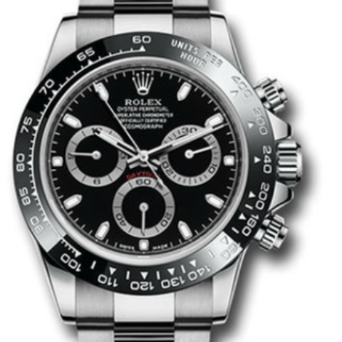Rolex ceramic bezel Daytona black dial 116500LN - SEA Wave Diamonds