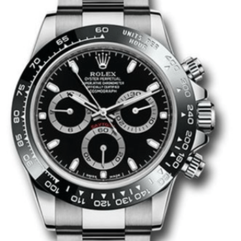 Rolex Daytona Ceramic bezel black dial 116500LN BK - SEA Wave Diamonds