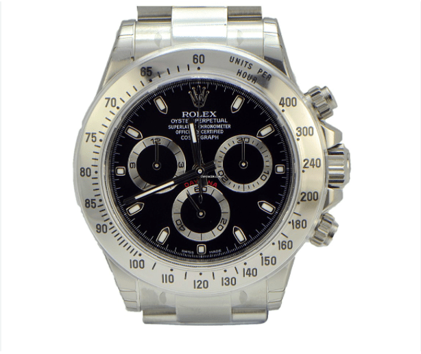 Rolex Stainless Steel Daytona / Black Dial / Full Package