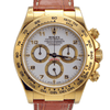 Rolex Daytona Yellow Gold on Leather Strap White Dial