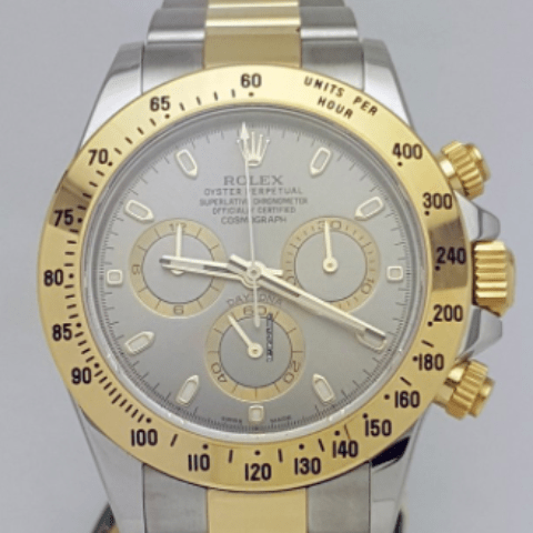 Rolex Daytona Two Tone 40mm Grey Dial REF: 116523 - SEA Wave Diamonds