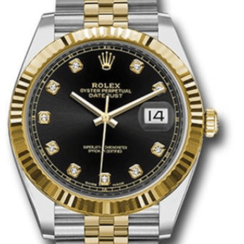 Rolex 126333 bkdj Datejust 41 Steel and Gold Fluted Bezel - SEA Wave Diamonds