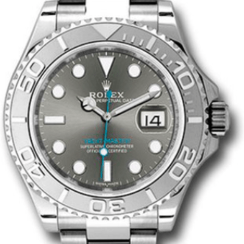 Rolex 116622 dkrh YACHT-MASTER Steel and Platinum - SEA Wave Diamonds