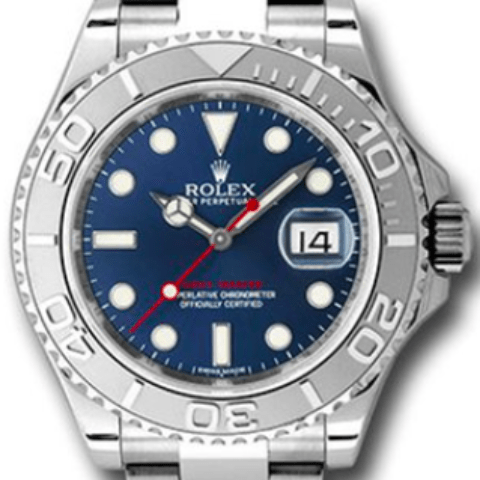 Rolex 116622 bl Yacht-Master Steel and Platinum Bezel - SEA Wave Diamonds