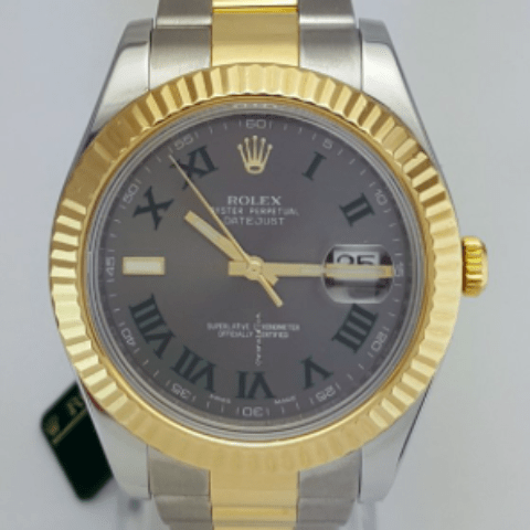 Rolex Datejust II 41mm Two Tone Fluted Bezel REF 116333