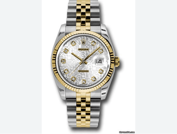 Rolex Datejust 116233 silver jubillie diamond dial - SEA Wave Diamonds