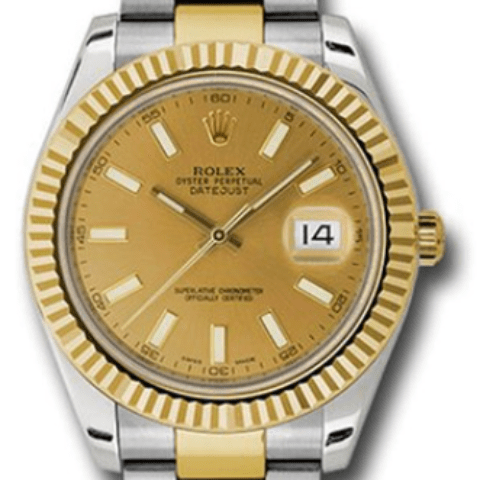 Rolex 116333 chio datejust2 twotone gold and steel