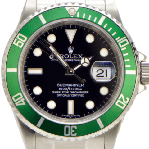 Rolex Submariner 50th Anniversary Ed Green Bezel and Black - SEA Wave Diamonds