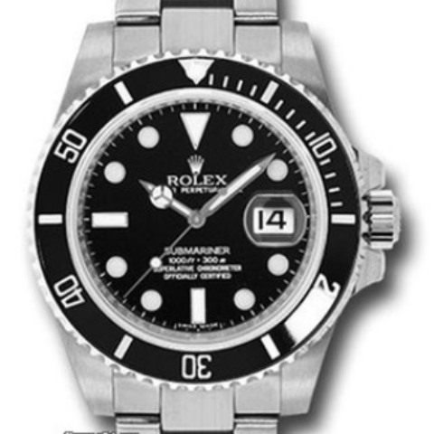 Rolex 116610LN submariner ceramic steel never worn stickers