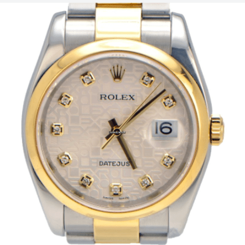 Rolex DateJust Two Toned Jubilee Diamond Dial and Oyster Ban - SEA Wave Diamonds