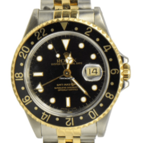 Rolex GMT-Master II / 18k Yellow Gold And Steel / Ref: 16713 - SEA Wave Diamonds