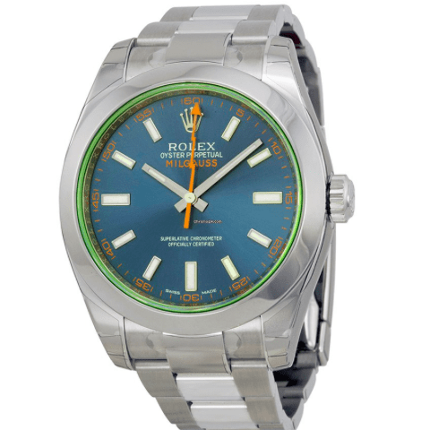 Rolex Watch 116400GV blo Milgauss - SEA Wave Diamonds