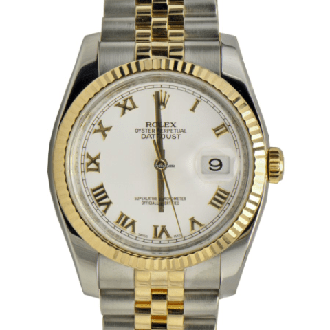 Rolex DateJust Gold/Steel - SEA Wave Diamonds
