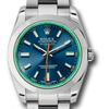 Rolex Milgauss Watch blue, dial green crystal - SEA Wave Diamonds