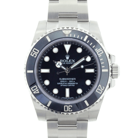 Rolex Submariner/No Date/Ceramic Bezel/ Black Dial/REF: 114060