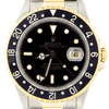 Rolex GMT Master II 2 Tone with Black Dial 16713 - SEA Wave Diamonds