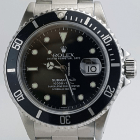 Rolex Submariner Stainless Steel Black Dial REF:16610