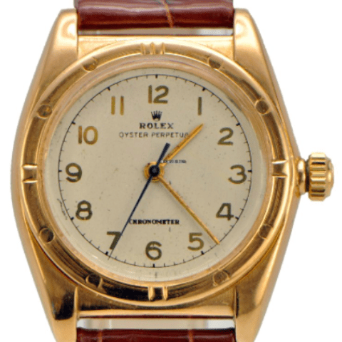 Rolex Bubbleback Oyster Perpetual 18k pink Gold Vintage 1947