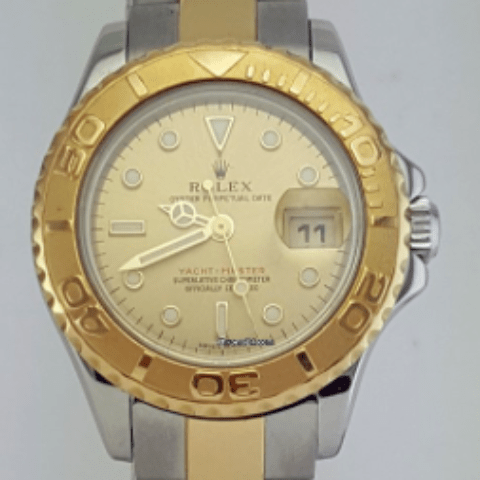 Rolex Oyster Perpetual Lady Yacht-Master 2 Tone 29 mm REF: 169623 - SEA Wave Diamonds