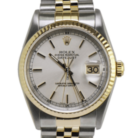 Rolex Datejust 36mm - Steel and Gold Yellow Gold - Fluted Bezel