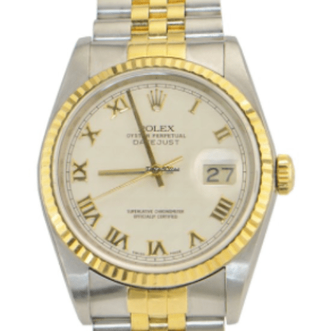 Rolex DateJust/2-Tone Yellow Gold and Stainless Steel REF: 16233