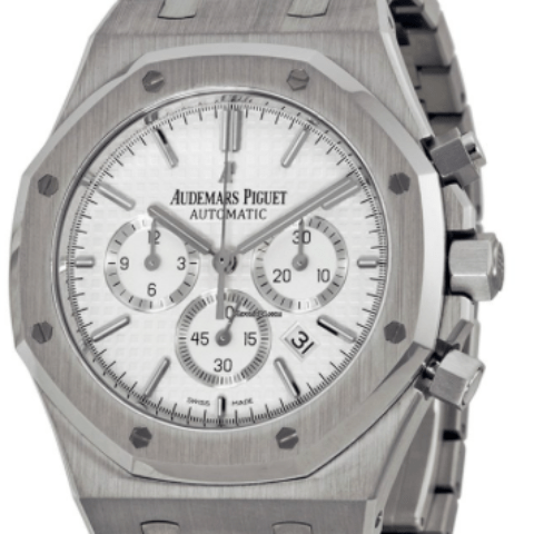 Audemars Piguet Watch 26320ST.OO.1220ST.02 Royal Oak Chrono - SEA Wave Diamonds