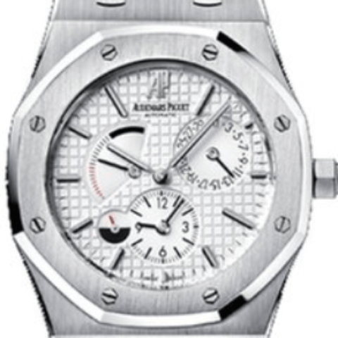 Audemars Piguet royal Oak dual time 39mm silver dial - SEA Wave Diamonds