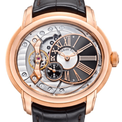 Audemars Piguet Rose Gold Millenary 4101 / 18k Rose - SEA Wave Diamonds