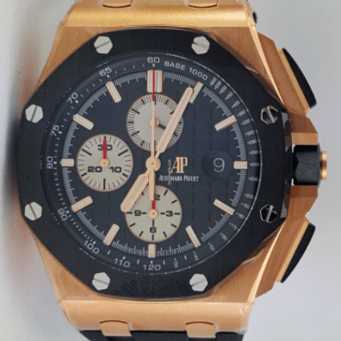 Audemars Piguet Royal Oak Offshore Chronograph - Pink Gold - UNWORN - SEA Wave Diamonds