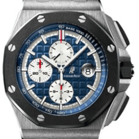 Audemars Piguet Royal Oak Offshore Chronograph Platinum 26401P0 - SEA Wave Diamonds