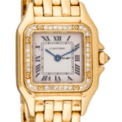 Cartier Yellow Gold Panther Diamond Bezel 1280
