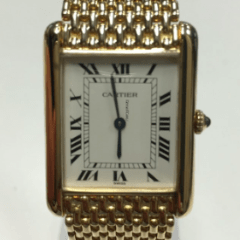 Cartier Tank Collection Tank Louis 24mm 18k Yellow Gold