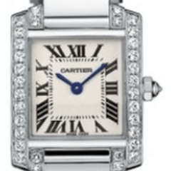 Cartier Tank Francaise 18kt White Gold Diamond Bracelet Ladies Watch