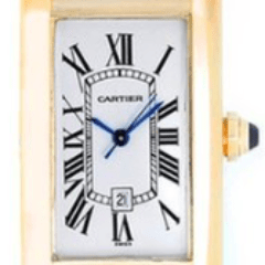 Cartier Tank Americaine 1725 Yellow gold mid size - SEA Wave Diamonds