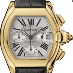 Cartier 2618 Roadster Chronograph 18k yellow gold UNWORN - SEA Wave Diamonds