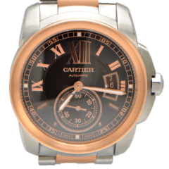 Cartier Men's Calibre de Cartier 42mm Rose and Stainless St