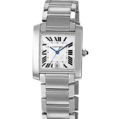 Cartier 2302 Tank Francaise Large size steel - SEA Wave Diamonds