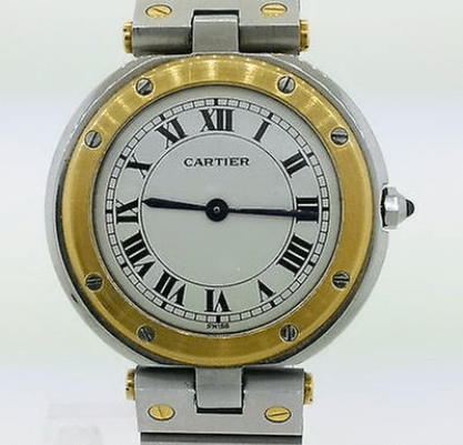 Cartier santos twotone steel and gold vintage