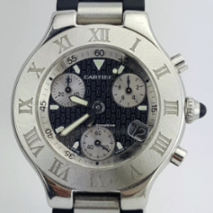 Cartier 21 Chronoscaph 32mm Stainless Steel REF:W10198U2