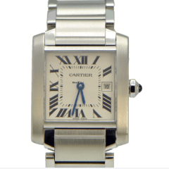 Cartier Tank Francaise Mid-Size with Date - Stainless Steel W51011Q3 - SEA Wave Diamonds