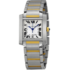 Cartier 2302 Tank Francaise Large Steel and Yellow Gold