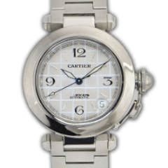 Cartier Pasha C 35mm Stainless Steel REF: 2324 #W31074M7 - SEA Wave Diamonds