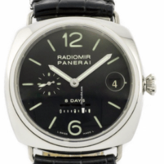 Panerai 8 Day Radiomir PAM00268 - Steel on Strap with Black Dial - SEA Wave Diamonds