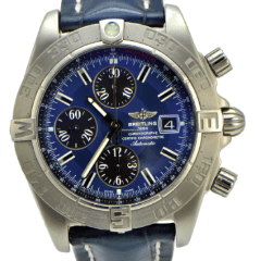 Breitling Galactic Chronograph II Blue Dial A1336410 - SEA Wave Diamonds