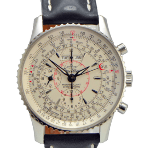 Breitling Montbrillant Navitimer Datora Stainless Steel on Leather