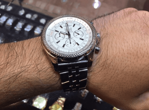 Breitling Bentley 6.75 wheel in the back A44362 - SEA Wave Diamonds