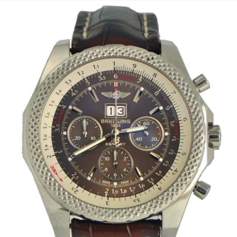 Breitling Bentley 6.75 Speed Stainless on Leather Strap - SEA Wave Diamonds