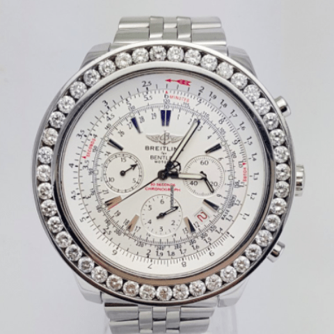 Breitling Bentley Motors Special Ed. Diamond Bezel A25362 - SEA Wave Diamonds