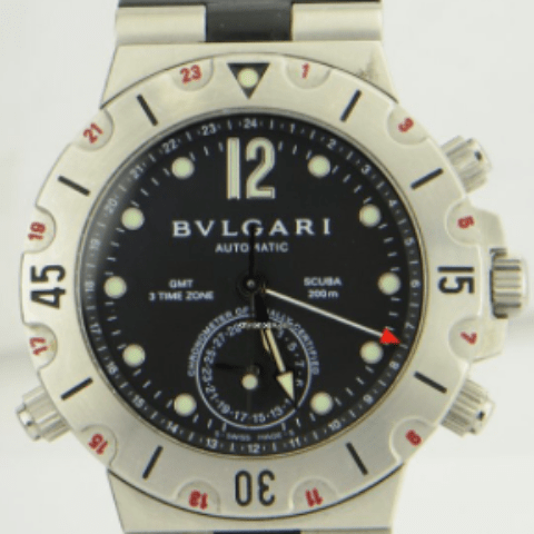 Bulgari Scuba GMT Chronograph Steel & Rubber Automatic REF: SD38SGMT - SEA Wave Diamonds